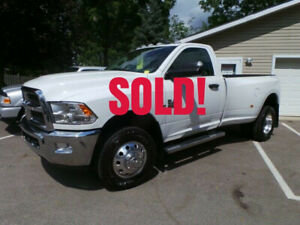 2016 RAM 3500 CUMMINS DIESEL, REG CAB, DUALLY, 4X4, LONG BOX