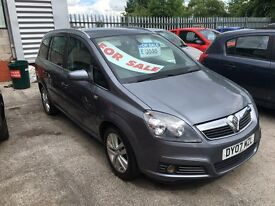 07 Vauxhall Zafria design 7 seater every extra!!!