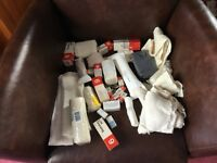 Bag full of assorted bandages and dressings, all shapes and sizes.