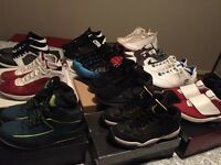 12 pairs for sale Jordan, Foam, Lebron 2003 to 2015.