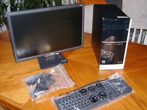 Computor HP 500-A60-A6-5200 2GhZ QUAD Core-  inc-->LCD Monitor