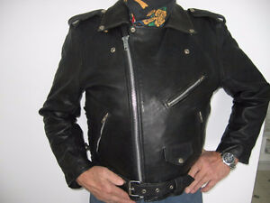 Perfecto, Manteau moto 100% cuir. Taille 40