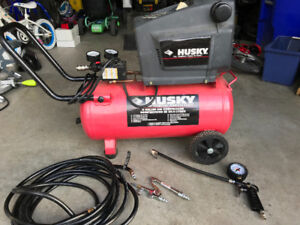 Husky 8 gal. compressor & tools Impact wrench, nailer, spray gun