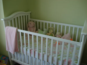 Wooden crib with mattress, bumper and more...