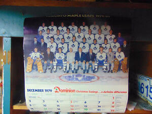 TORONTO MAPLE LEAFS 1979,1980,1981 VINTAGE CALENDARS NHL HOCKEY