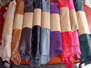 Leather hides, sides, backs, scraps, crafting supplies