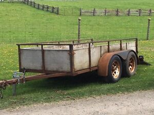 Double axle landscaping/utility trailer