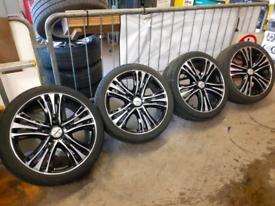 "Set of 20"" Transit Custom alloy wheels & tyres"