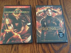 Hunger Games and Mockingjay Part 1 DVDs