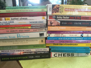 Large collection of chess books, take all or pick what you like!