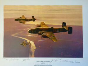 """Robert Taylor """"Maple Leaf Halifaxes"""" Signed, Numbered Print"""