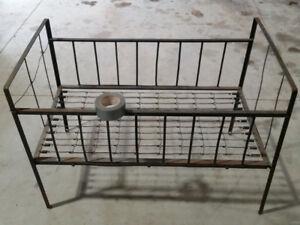 Antique Steel Frame Crib / Cot