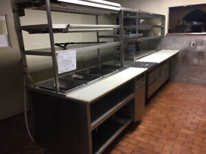 KITCHEN LINE-STAINLESS HOT -COLD & PASS THROUGH