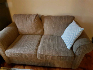 Super comfy smoke free overstuffed couch and loveseat