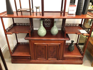 Rosewood Console Table With Storage