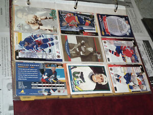 OLD  HOCKEY  CARD COLLECTION  IN DISPLAY ALBUM .