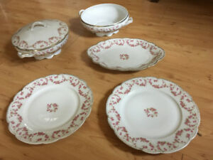 Limoges Serving Dishes - Bridal Rose