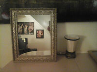 Nice Wall Mirror with gold wooden frame with nice detail . Like