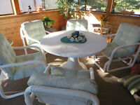 Patio Furniture - 4 Chairs, 1 Rocker, & Table