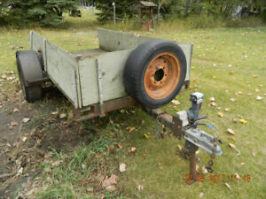 old  utility trailer