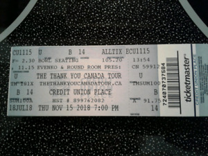 """Great Seat for """"Thank You Canada Tour"""""""