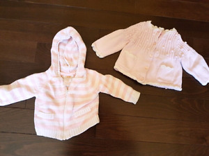Light pink sweathers 0-3 m.
