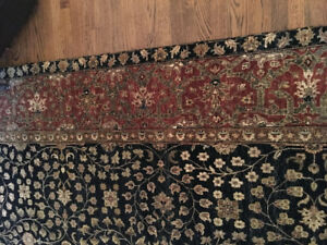 Beautiful Oriental Wool Carpet - 10 feet by 13 feet - immaculate