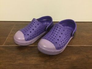 Purple Crocs style, Toddler Girls Shoes, Size 5/6