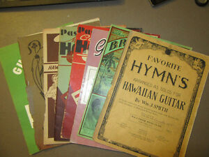 EIGHT VINTAGE SHEET MUSIC BOOKS: HAWAIIAN STEEL & SPANISH GUITAR