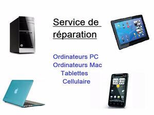 Vente et réparation d'ordinateurs (nettoyage virus-formatage…)
