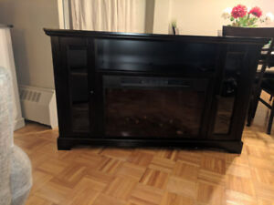 $200 OBO TV STAND WITH FIREPLACE