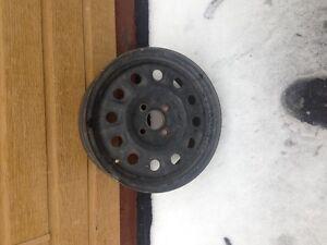 roue d'acier 4x 100 15''