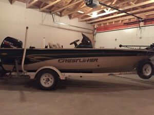 2006 crest liner fish hawk 70hp Suzuki 4 stroke fishing boat