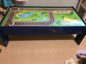 Plan Toys- train table, construction site and airport