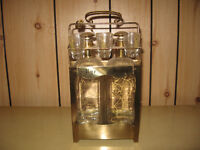 Two Decanters with Shot Glasses in Lockable Caddy