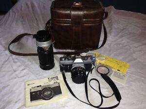 Vintage Canon FTb SLR Camera Lenses Case