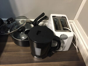 Pots, Kettle and Toaster - Super Cheap
