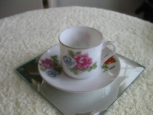 ADORABLE OLD VINTAGE WAFER-THIN ACME CHINA MINI CUP & SAUCER