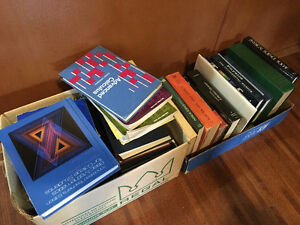 Vintage Text Books - Math, Physics, Language, Science