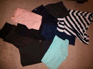 Six pairs of pants 2 pairs of shorts & skirt size 14