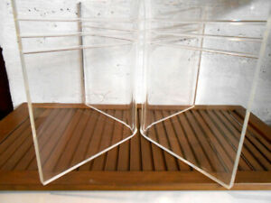 Vintage Lucite Acrylic 2 Piece Coffee Table Base