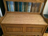 Real Wood Storage Bench