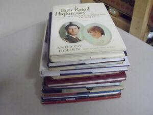 LOT OF 10 HARDCOVER BOOKS ROYAL FAMILY + PRINCESS DIANA