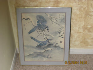 Blue Jays in Winter - 1968  by Basil Ede