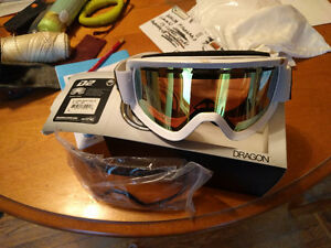 Dragon Alliance D2 White Goggles (BRAND NEW)