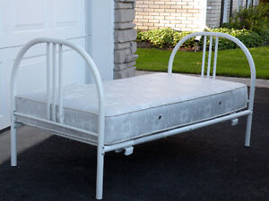 Youth bed frame and mattress