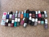 Barely used Nail Polish Collection - Nails Inc, Chanel, No7, Barry M