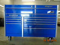 Snap On Roll Cab Double Bank Royal Blue Tool Cabinet