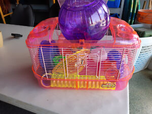 Hamster cage with tubes/accessories