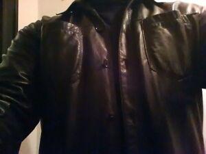 Danier button up leather shirt. Very rare! Peterborough Peterborough Area image 3